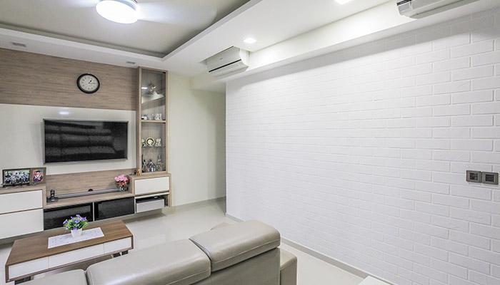 Blogger OurLittleSmarties - Bartley Residences - Travertino - Living Room