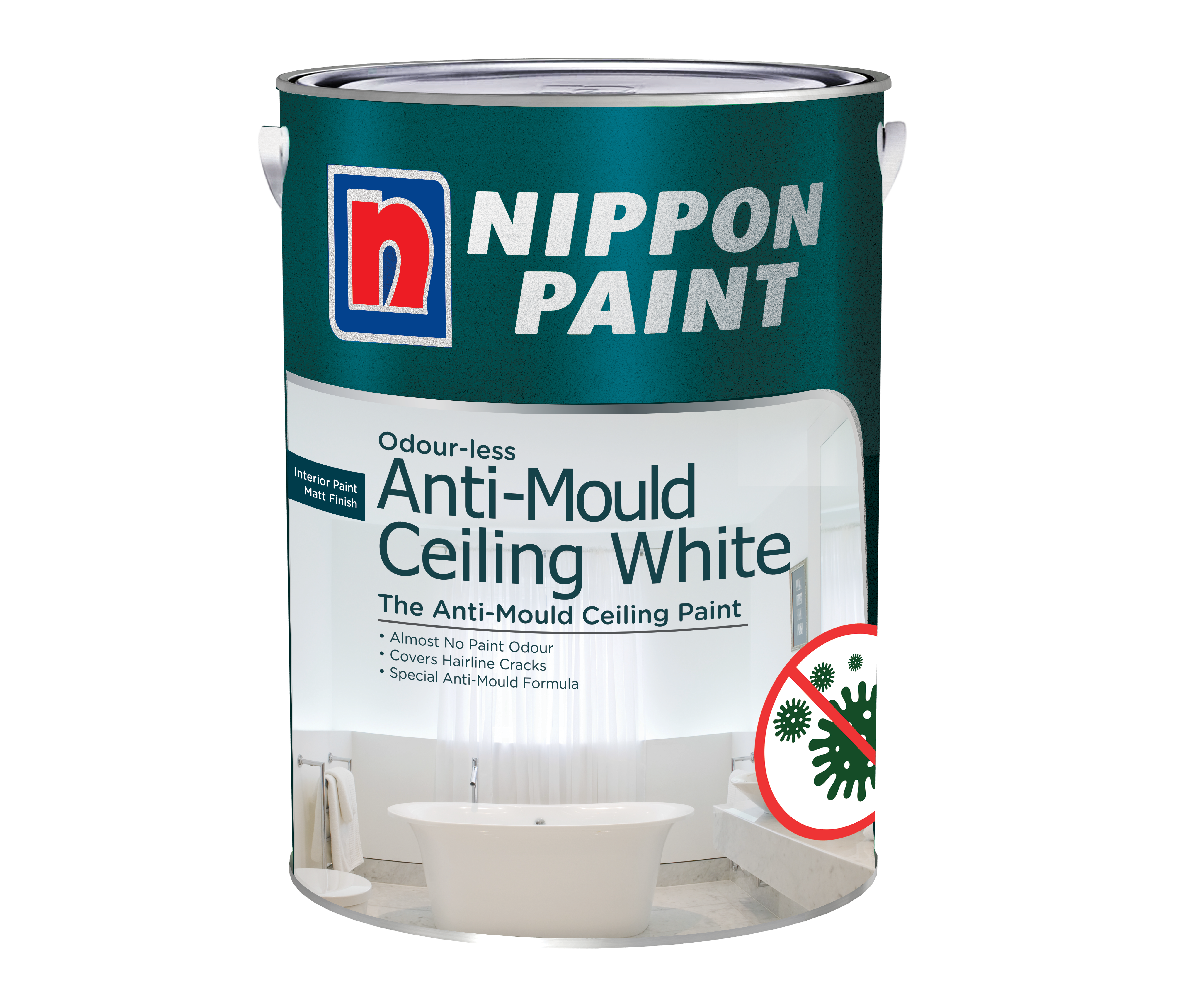 Odour Less Anti Mould Ceiling White Official Nippon Paint Store