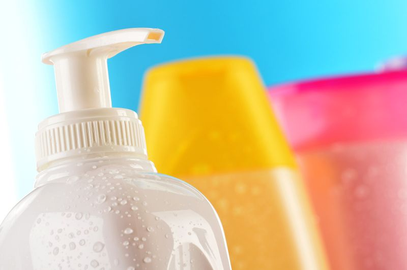 Colourful bottles to spice up the wash