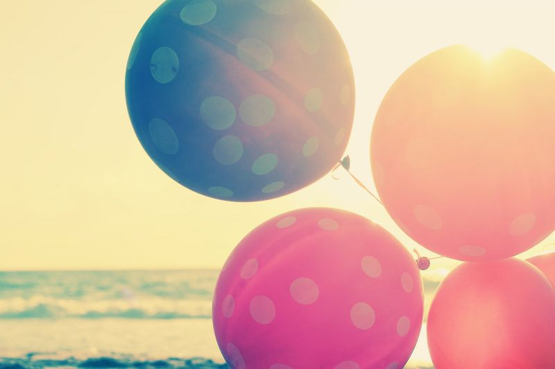 Balloons and the sun