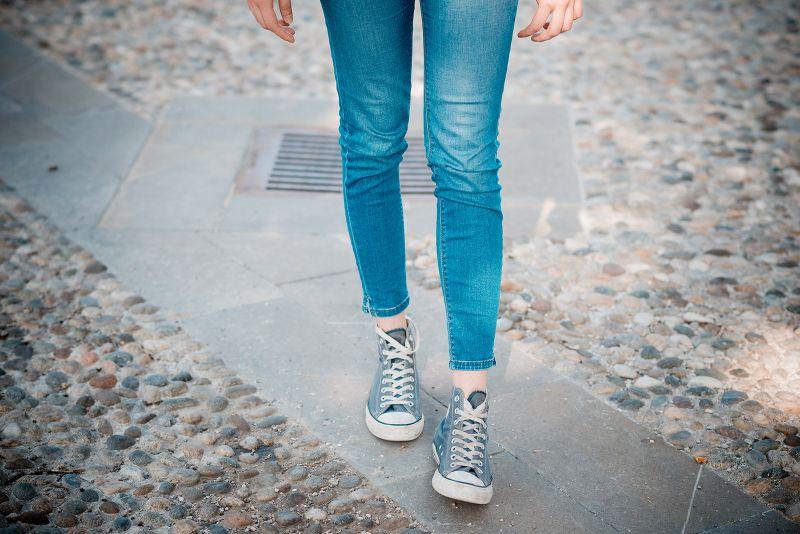 Blue Jeans On The Sidewalk