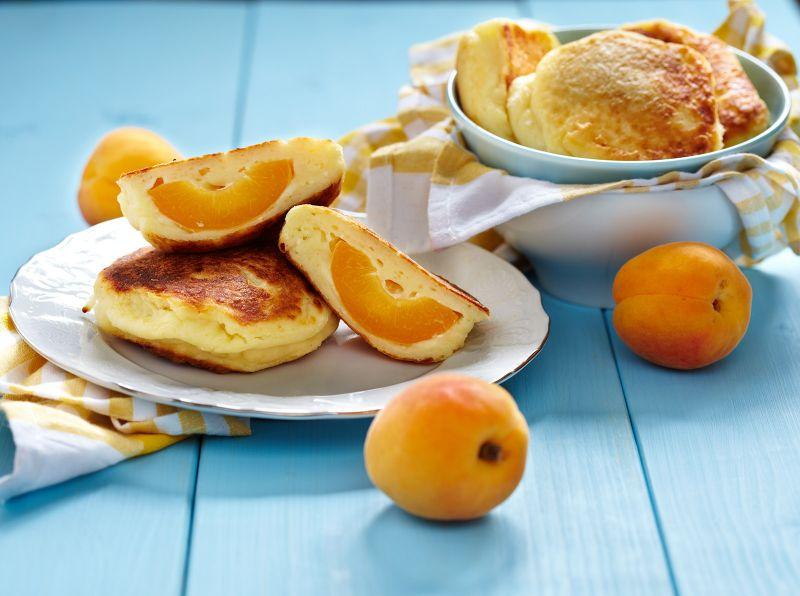 Ricotta Pancake with Apricots