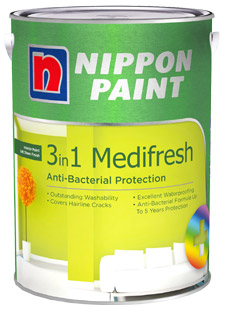Interior Paints - Nippon Paint 3-in-1 Medifresh