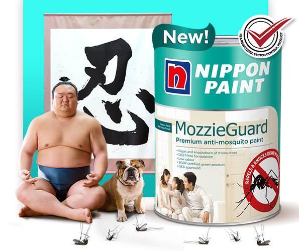 Say Goodbye to Mosquitoes with our new Mozzieguard premium anti-mosquito paint