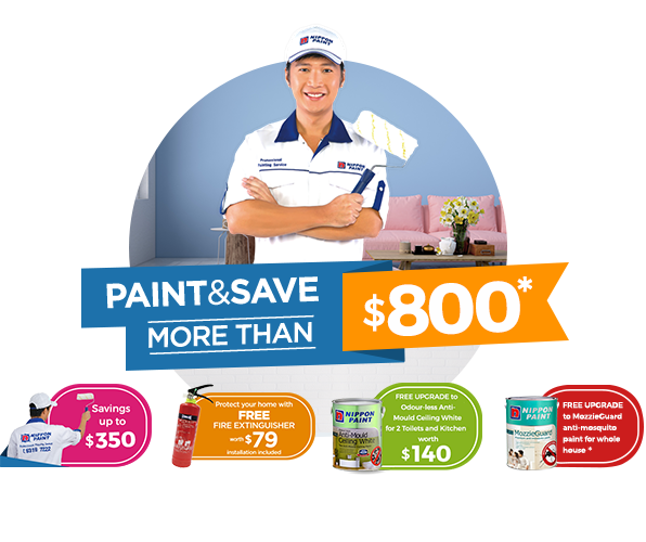 Paint & Save more than $800 and enjoy Savings up to $350!