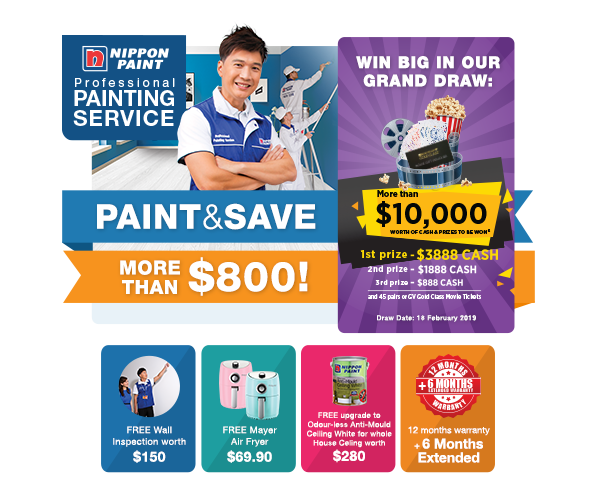 Engage Our Professional Painting Service & Stand To Win More Than $10,000 in Grand Draw