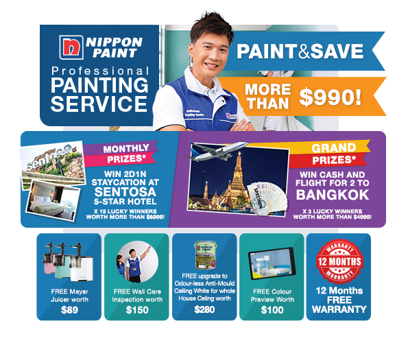 Save MORE than $990 with Professional Painting Service & Stand to Win BIG Prizes!
