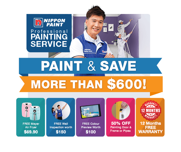 Save MORE than $600 when you engage our professional painting service