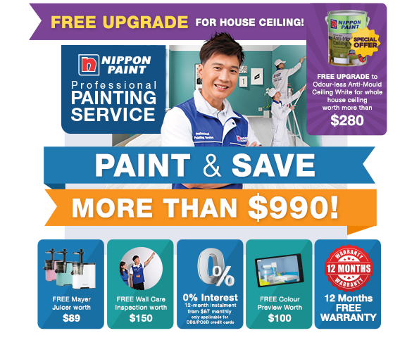 Save MORE than $900 when you engage our professional painting service