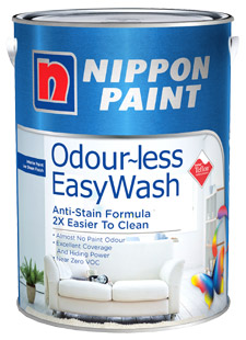Interior Paints - Nippon Paint Odour-less EasyWash
