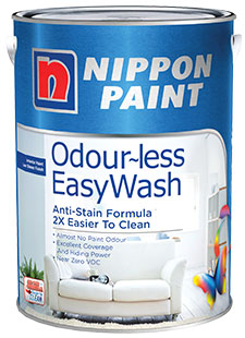 Nippon Paint Odour-less Easy-Wash
