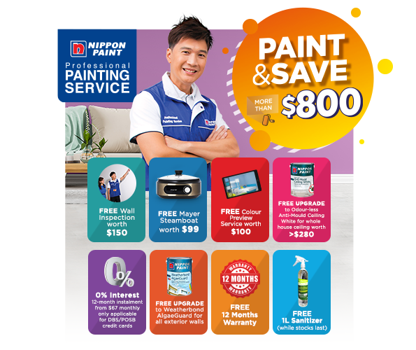 Save MORE than $800 when you engage our Professional Painting Service