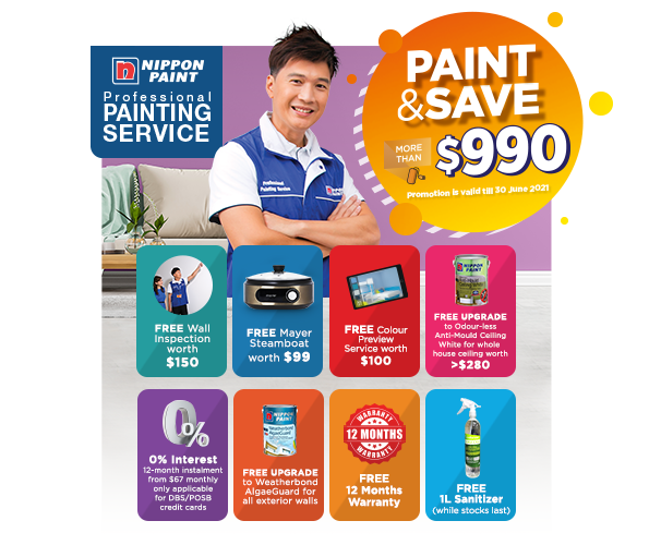 Save MORE than $990 when you engage our Professional Painting Service