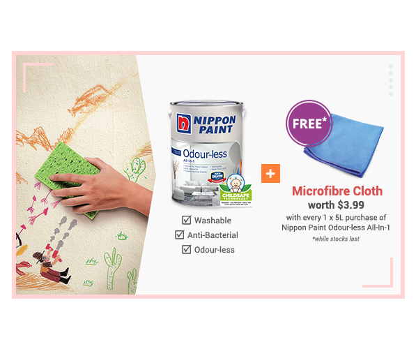 Buy & Get: Free Microfibre cloth for every 1 x 5L Odourless All-In-1