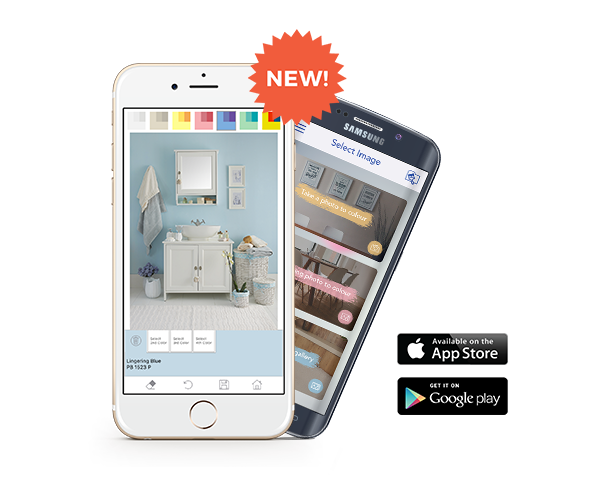 Download our brand new colour visualizer mobile app