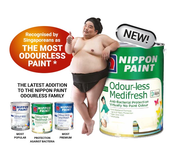 New Odour-Less Medifresh:  Recognised By Singaporeans As The Most Odourless Paint*