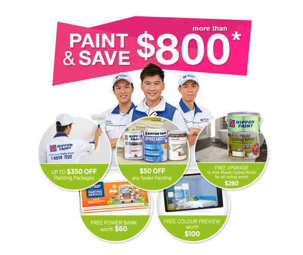 Paint & Save more than $800 and enjoy up to $350 off painting packages!