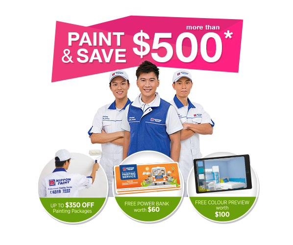 Paint & Save more than $500 and enjoy up to $350 off painting packages!