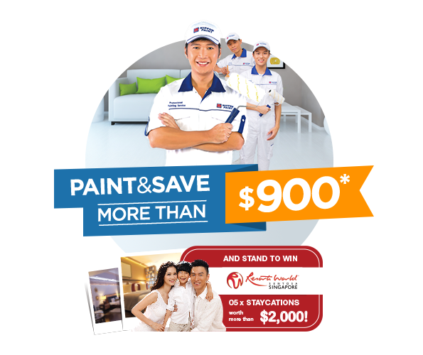 Paint & Save more than $900 and stand to win staycation at Resort World Sentosa!