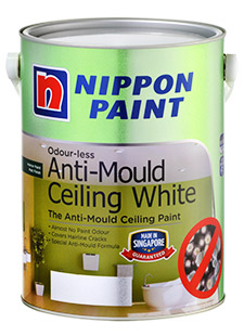 Interior Paints - Nippon Paint Odourless anti-mould ceiling white