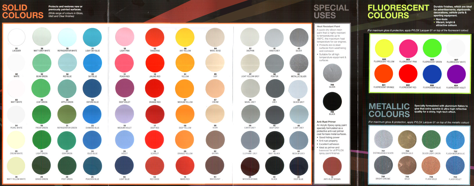 Nippon Paint Pylox Spray Paint Colour Chart Nippon Paint Singapore