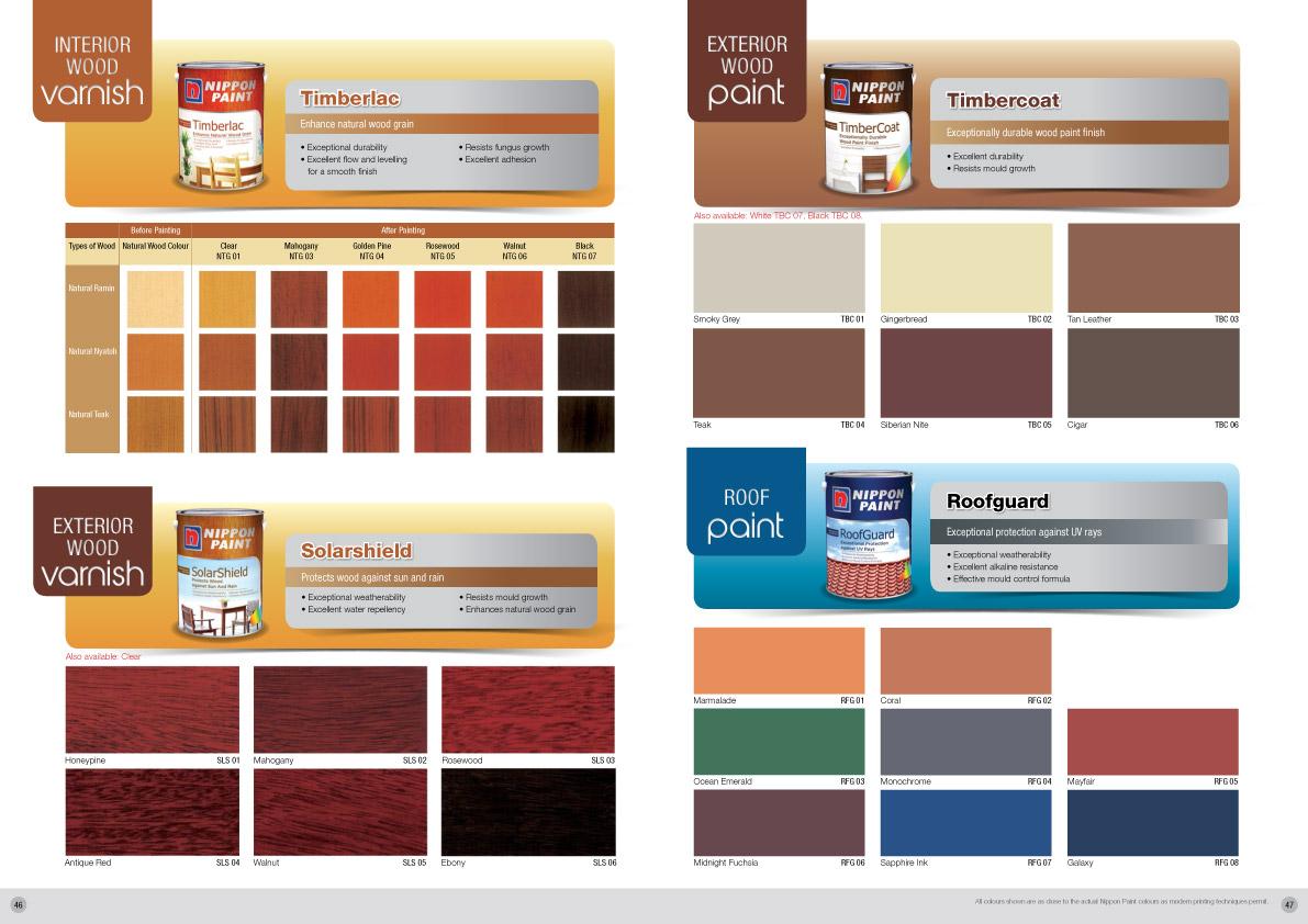 Nippon Paint Timberlac Colour Chart Nippon Paint Singapore