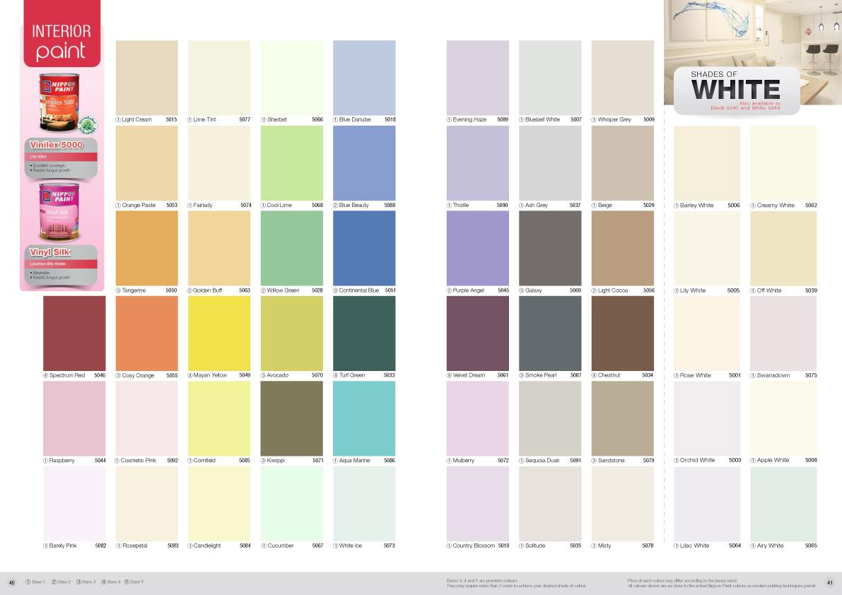 Nippon Paint Vinilex 5000 Colour Chart Nippon Paint