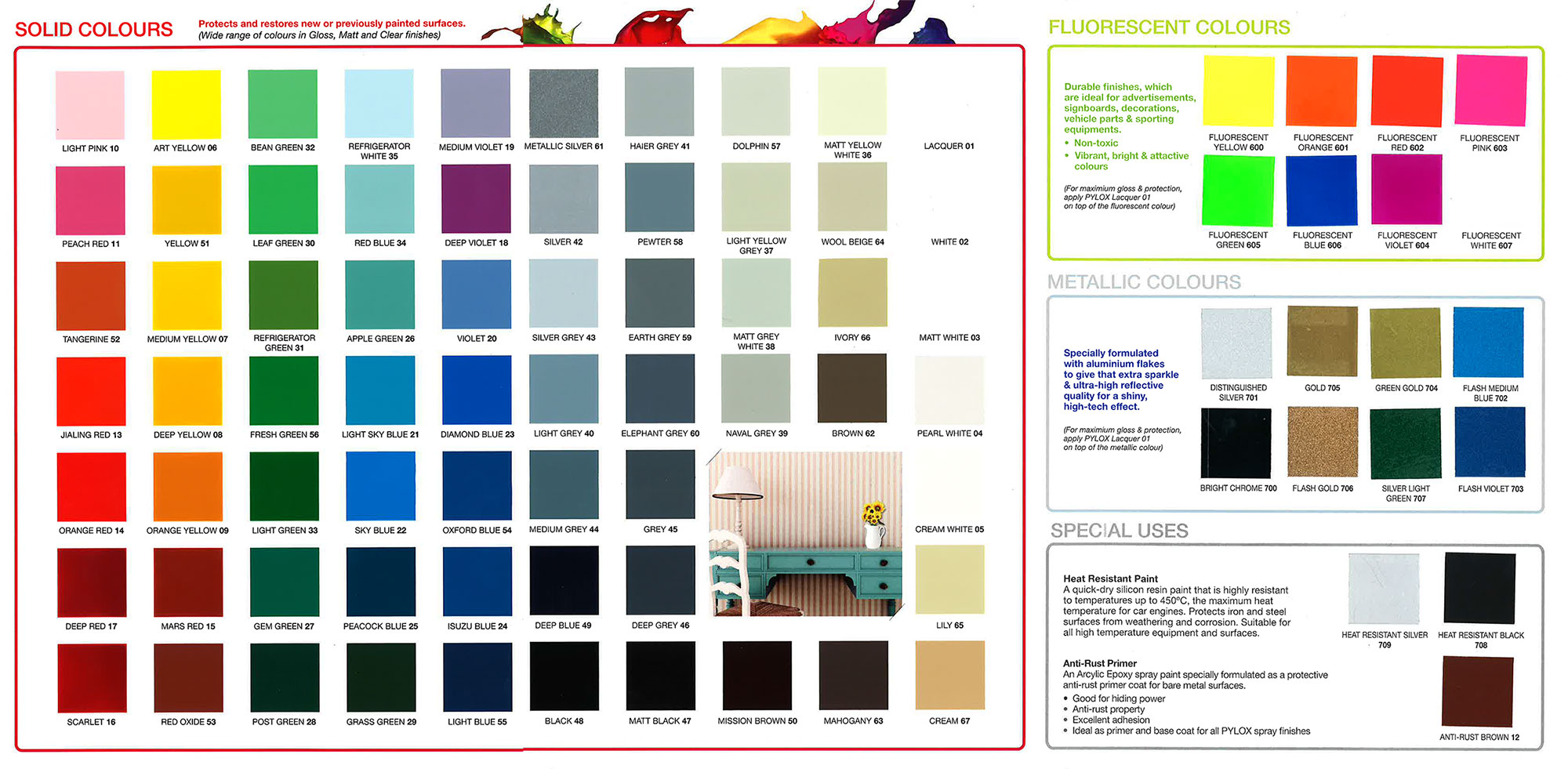 Bosny Spray Paint Colors Chart Paint Color Ideas