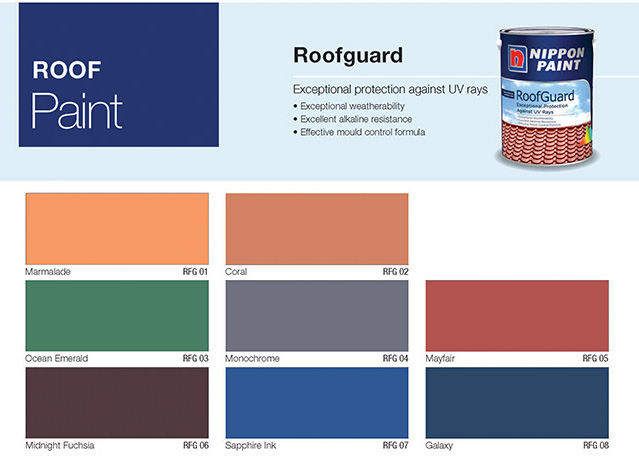 Awesome Exterior Paints   Nippon Paint RoofGuard. Colour Chart (JPG)