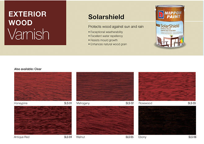 Wood Varnish Solarshield Nippon Paint Singapore